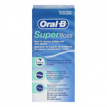 Зубная нить Oral-B Super Floss, 50 шт в Санкт-Петербурге