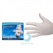 Перчатки смотровые латексные без талька (L) - 100 шт в Санкт-Петербурге