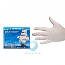 Перчатки смотровые латексные без талька (М) - 100 штук в Санкт-Петербурге