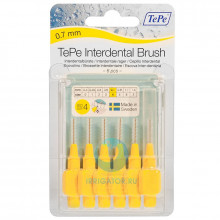 Ершики TePe Interdental Brush 0.7 мм Yellow в Санкт-Петербурге